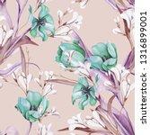spring bouquet seamless pattern.... | Shutterstock . vector #1316899001