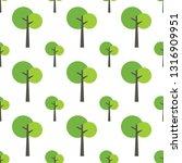 seamless tree pattern on white... | Shutterstock .eps vector #1316909951
