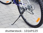 bicycle  standing  focus on the ... | Shutterstock . vector #13169125