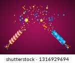 realistic 3d detailed party... | Shutterstock .eps vector #1316929694