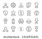 set of award line icons  such... | Shutterstock .eps vector #1316931641