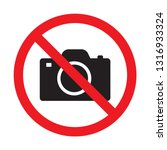 no cameras allowed sign. red... | Shutterstock .eps vector #1316933324