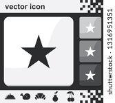 star flat set of buttons vector ...