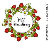 beautiful ripe strawberries on... | Shutterstock .eps vector #1316965871