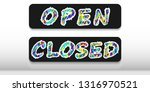 "two plates with the words ""open""... 