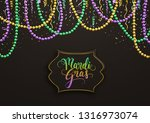 mardi gras holiday decorative... | Shutterstock .eps vector #1316973074