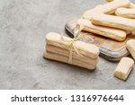 italian savoiardi ladyfingers...   Shutterstock . vector #1316976644