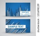 modern business card design | Shutterstock .eps vector #131698139