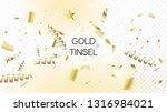 modern realistic gold tinsel...   Shutterstock .eps vector #1316984021