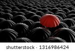 standing out from the crowd ... | Shutterstock . vector #1316986424