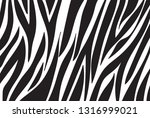 zebra pattern. vector background | Shutterstock .eps vector #1316999021