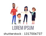 happy family and baby isolate... | Shutterstock .eps vector #1317006737