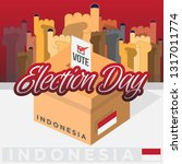 indonesia democracy political... | Shutterstock .eps vector #1317011774