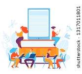 vector ediucation illustration... | Shutterstock .eps vector #1317011801