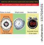 watches with forward  backward... | Shutterstock .eps vector #1317024131