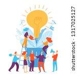 vector illustration with... | Shutterstock .eps vector #1317025127