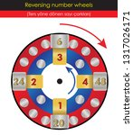 reversing number wheels | Shutterstock .eps vector #1317026171