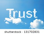 trust a cloud  massage on sky | Shutterstock . vector #131702831