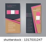 flyer template. vectical banner ... | Shutterstock .eps vector #1317031247
