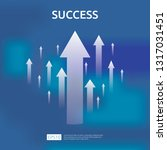 business growth arrows to... | Shutterstock .eps vector #1317031451