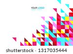 modern business brochure... | Shutterstock .eps vector #1317035444