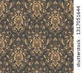 vector damask seamless pattern... | Shutterstock .eps vector #1317051644