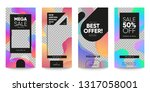 set of sale banner for social... | Shutterstock .eps vector #1317058001