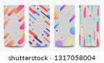 set of sale banner for social... | Shutterstock .eps vector #1317058004
