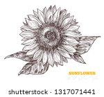 vector sketch engraving... | Shutterstock .eps vector #1317071441