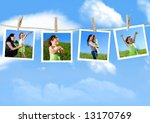 family photographs hanging on a ... | Shutterstock . vector #13170769