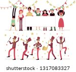 parade  the procession of... | Shutterstock .eps vector #1317083327