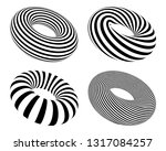 set of black and white striped...   Shutterstock .eps vector #1317084257