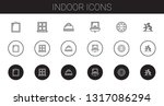 indoor icons set. collection of ...   Shutterstock .eps vector #1317086294