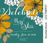 wedding invitation card   Shutterstock .eps vector #131708957