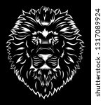black and white tattoo king... | Shutterstock .eps vector #1317089924