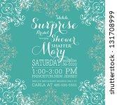 bridal invitation cards | Shutterstock .eps vector #131708999