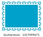 border frame blue label vector... | Shutterstock .eps vector #1317099671
