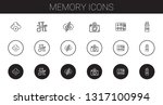 memory icons set. collection of ... | Shutterstock .eps vector #1317100994