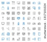 personal icons set. collection... | Shutterstock .eps vector #1317101024