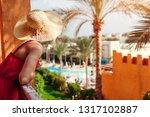 young woman enjoying the view...   Shutterstock . vector #1317102887
