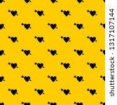 heart with arrow pattern... | Shutterstock .eps vector #1317107144