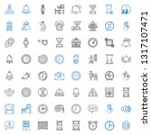 alarm icons set. collection of... | Shutterstock .eps vector #1317107471