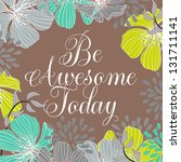 "printable poster ""be awesome... 