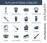 hygiene icons. trendy 16... | Shutterstock .eps vector #1317116717