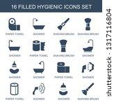hygienic icons. trendy 16... | Shutterstock .eps vector #1317116804