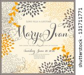 wedding invitation printable... | Shutterstock .eps vector #131711771