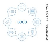 loud icons. trendy 8 loud icons.... | Shutterstock .eps vector #1317117911