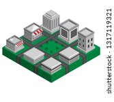 3d smart isometric city of... | Shutterstock .eps vector #1317119321