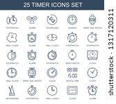 timer icons. trendy 25 timer... | Shutterstock .eps vector #1317120311