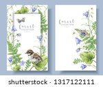 watercolor detailed banners... | Shutterstock . vector #1317122111